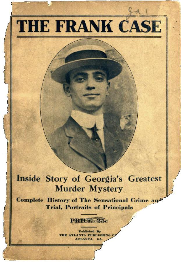 Cover of the 1913 narrative of the Leo Frank trial