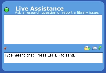Get help when you need it using the Live Assistance chat service!