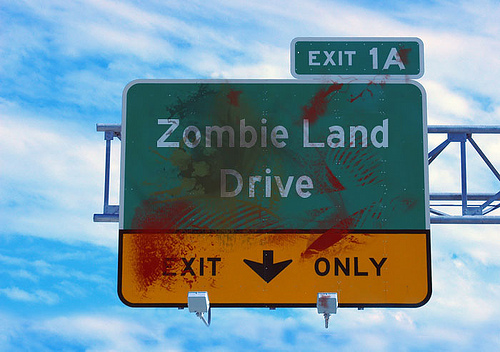 Zombie Land Drive Sign