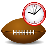 football with countdown clock