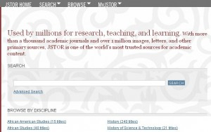 A preview of the native JSTOR interface