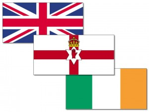 UK/Ireland/Northern Ireland flags