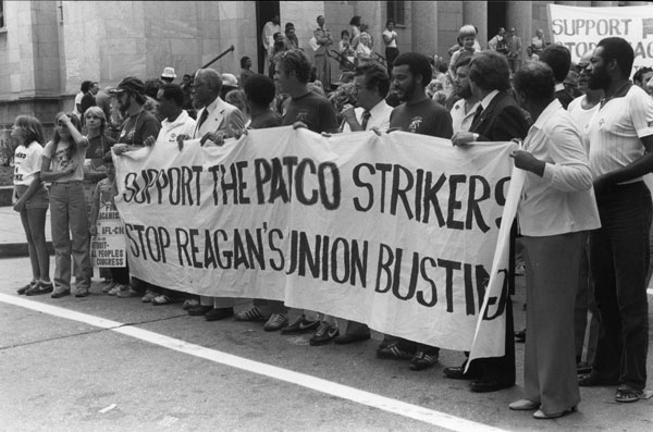 PATCO Workers Strike, Photo from Southern Labor Archive, Georgia State University Library