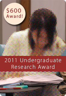 Undergraduate Research Award ad module