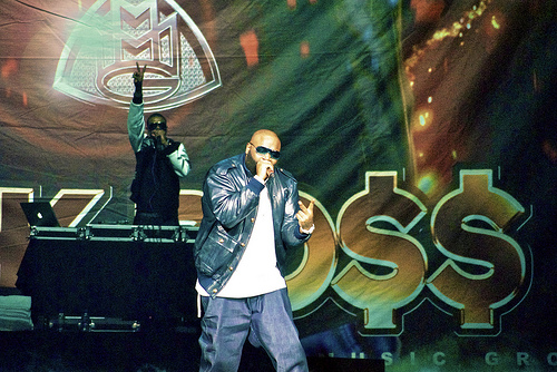 Photo: Rick Ross in concert, Chicago, April 1, 2011.