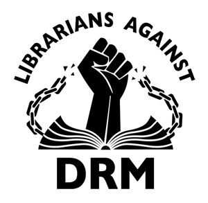 Librarians Against DRM logo