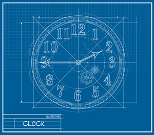 Clock blueprint
