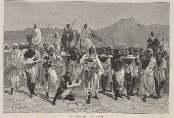 Convoy of slaves in the Soudan