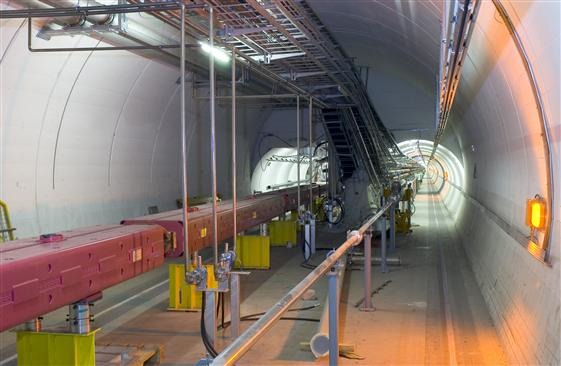 Tunnel at CERN laboratory used in OPERA