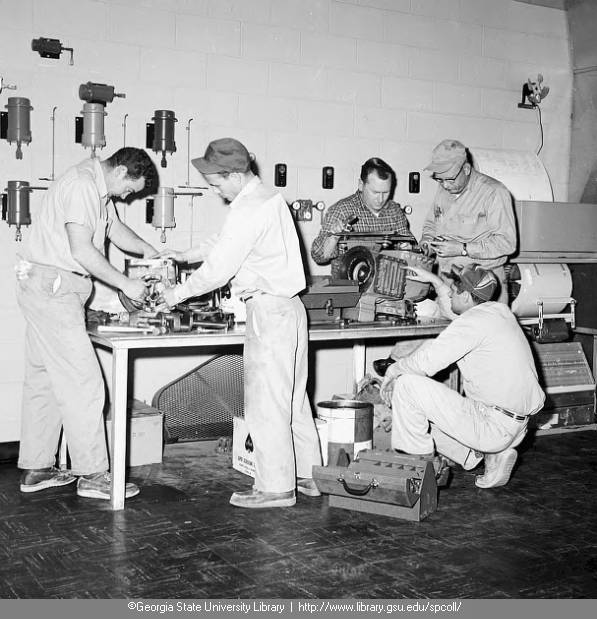 Piping Industry Program (workers in shop)