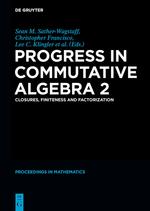 Book cover for Progress in commutative algebra 2