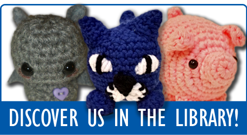 "Handcrafted animal designs - ""Discover Us In the Library"""