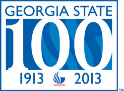 Georgia State University Centennial Logo