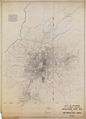 Population spot map of the Atlanta area (1945)
