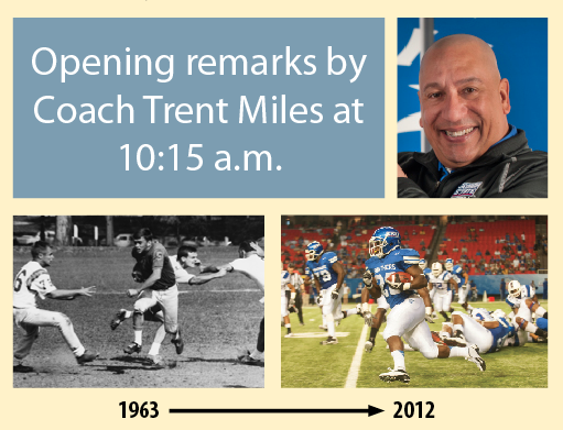 GSU Football photos and Coach Trent Miles