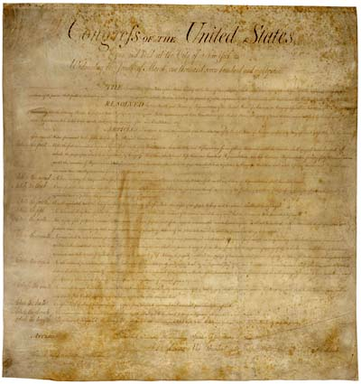 Bill of Rights - original document - image