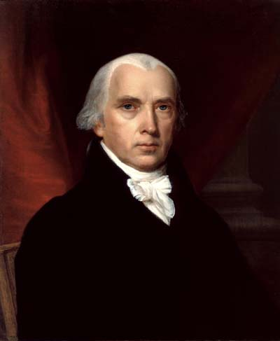 James Madison, Author of the Bill of Rights (public domain image)