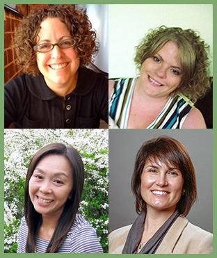 Clockwise from top left: Mindy Stombler, Senior Lecturer & Director of Instruction, GSU Sociology Department; Amanda Jungels, Marni Brown, and Saori Yasumoto, all graduated doctoral students from the GSU Sociology Department