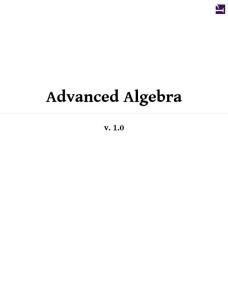AdvancedAlgebra