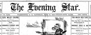 image, Evening Star masthead
