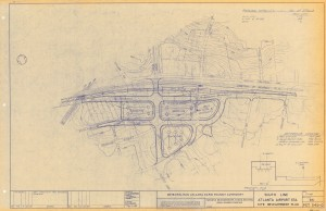 Preliminary plan for Airport transit station, 1971
