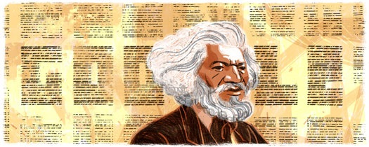 February 1st's Google doodle honors Frederick Douglass.