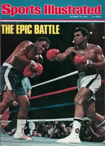 Joe Frazier and Ali on the Sports Illustrated cover, October 1975.