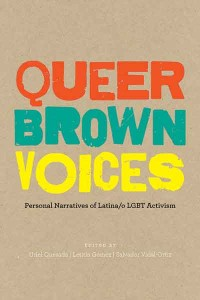 cover, Queer Brown Voices anthology