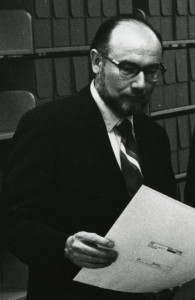 Dr. Merl E. Reed in the archives, ca. 1972