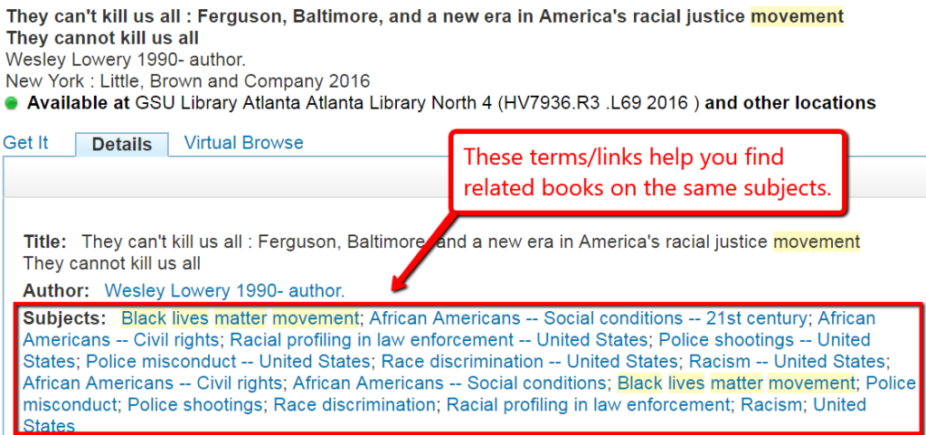 search result detail, Wesley Lowery, They Can't Kill Us All: Ferguson, Baltimore, and a New Era in America's Racial Justice Movement