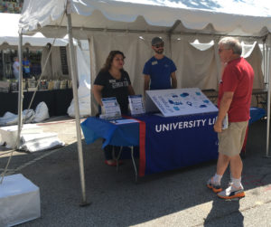 Library booth at Decatur Book Festival 2017