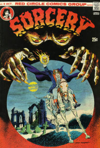 cover, Sorcery comic book, 1974