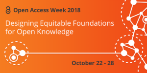 Banner image for open access week 2018