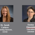 Sarah Carlson and Denise Dimsdale